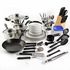 NEW Gibson Home Essential Total Kitchen 83-Piece Combo Set Cookware Dinnerware