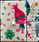 Trolls glitter Light Switch wall plate covers nursery kids room bedroom decor