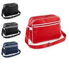Unisex BagBase Zippered Main & Front Compartment Adjustable Strap Messenger Bag