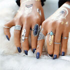 8pcs/set Fashion Vintage Turquoise Above The Knuckle Ring Midi Rings Set new