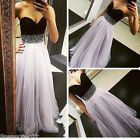 2017 Elegant Women Party Cocktail Prom Sleeveless Formal Evening Long Maxi Dress