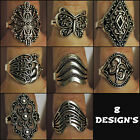 Vintage, Silver, Ring, 8 Styles to Choose From, Size Q, Mutiple Designs, Hippy