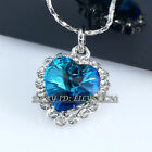 A1-P070 Fashion 'Heart Of Ocean' Necklace Pendant 18KGP Rhinestone Crystal