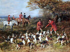Hunters And Hounds Painting by Heywood Hardy Art Reproduction