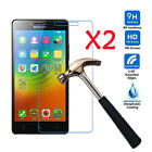 2Pcs Premium Real 9H Tempered Glass Film Screen Protector For Lenovo Phone model