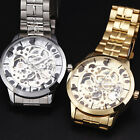 Classic Elegant Men's Automatic Mechanical Wrist Watch Smooth Golden/Silver Case