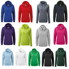 Russell Womens Plain Hooded Sweater Ladies Long Sleeved Hoodies Top Size XS-XL