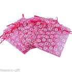 Wholesale Lots HX Fuchsia Flower Gift Bags Pouches Wedding/Christmas Gift Favor