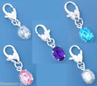 Wholesale Lots HX Mixed SP Rhinestone Clip On Charm Fit Chain Bracelet