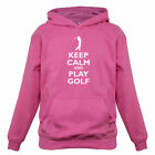 Keep Calm and Play Golf - Kids / Childrens Hoodie - Golfer - Golfing - 7 Colours
