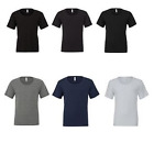 New Mens Bella + Canvas Wide Neck Short Sleeve Slim Fitted T-Shirts Size S-2XL