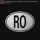 country code ro - Metallic Romania Oval Sticker Die Cut country code RO gold silver chrome