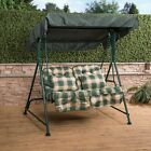 Mosca 2 Seater Garden Patio Swing Seat - Green Frame with Classic Cushions