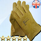 10 Pairs Premium Leather Lorry Drivers Gloves Tough Work Safety Gloves