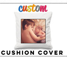 PERSONALISED LUXURY CUSHION PILLOW COVER ANY IMAGE OR PHOTO LOGO TEXT GIFT