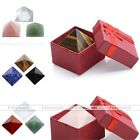 3x Reiki Healing Point Gemstone Crystal Pyramid Feng Shui Home Decoration Gift