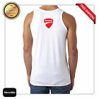 DUCATI RACING LOGO RACE MOTORCYCLE TANK TOP high quality BACK&FRONT