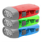 1x New Hand Pressing Dynamo Camping Lamp 2 LED Flashlight Mini Portable Light