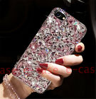 For Samsung S8 Plus Glitter Diamond Bling Bownot Cute Crystal Clear Hard PC Case