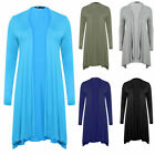New Women Ladies Long Sleeve Jersey Waterfall Style Cardigan Plus Size 14-32