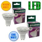 6 X SYLVANIA 5W LED GU10 BULB WARM WHITE 3000K COOL WHITE 4000K LIGHT - NEW