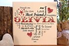 Handmade personalised Best Friend Birthday plaque sign typography gift present
