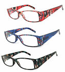 1 or 2 Pair Retro Rectangular Colorful Frame Wide Arms Full Lens Reading Glasses