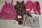 Gymboree Baby Girls 6-12 Month Pink KITTIES AT PLAY Jumper Velour Dress NWT