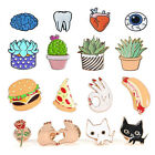 16 Styles Cute Corsage Collar Brooch Pins Enamel Badge Accessory Clothes Decor
