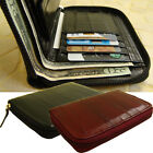 Genuine Eel Skin Leather Zipper Around Purse Wallet (medium-sized wallet)