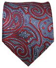 Red and Gray Paisley Men's Tie
