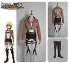 Attack on Titan Shingeki no Kyojin Armin Training Corps Cosplay Costume+Shoes
