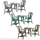 Garden Bistro Set 2 Chairs & Table Furniture Outdoor Patio Dining 3pc Rose - New
