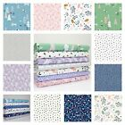 FOREST TALK by MAKOWER - Cute modern quilting fabric 100% COTTON woodland