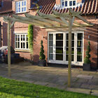 Lean To Pergola - Light Green - Wooden Garden Structure