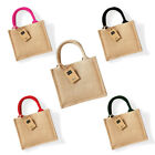 Womens Westford Mill Laminated Jute Cotton Carry Handles Mini Gift Bag One Size
