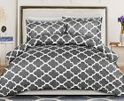 Printed Duvet Cover Set with 2 Pillow Shams Brushed Microfiber Stain Resistant image