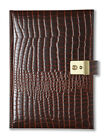 CROCODILE-LOOK REAL LEATHER A5 LOCKABLE 5 FIVE YEAR PERPETUAL LOCKING DIARY