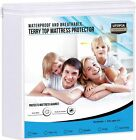 Waterproof Mattress White Queen Protector Fitted Mattress Cover Utopia Bedding