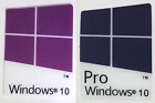 1x/2x/5x/10x Windows 10 Pro & Windows 10 Case Badge Logo Sticker Blue/Purple