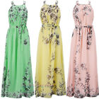 Women's Summer Boho Long Chiffon Dress Evening Party Beach Dresses Maxi Dress