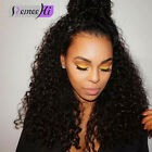 8A Natural Spanish Curly Full Wigs Front Lace Wig 100% Human Hair Baby Hair