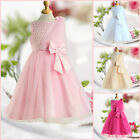 Girls Pink Wedding Party Dresses Bridesmaid Flower Girls Dress AGE SIZE 2 to 10Y