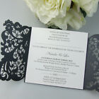 25-Laser Cut Flora Wedding Invitation Cards With Custom Personalized Printing