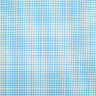 100% Cotton Fabric - Mini Check Gingham - BLUE  - Rose & Hubble - Cut from Roll