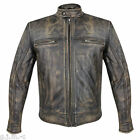 Xelement 1550 Armored Thick Soft Cowhide Distressed Leather Motorcycle Jacket