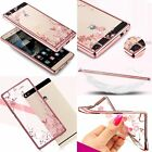 Ultra-Thin Clear Crystal Plating TPU Cover Case For Huawei Ascend / Honor Series