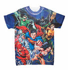 DC Comics Justice League Charging Forward Mens Dye Sublimated T-Shirt image