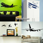 Aeroplane Wall Stickers! Transfer Graphic Plane Decal Decor Sticker Art Stencil