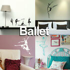 Ballet Wall Sticker! Dance School Transfer Graphic Ballerina Decor Stencil Decal